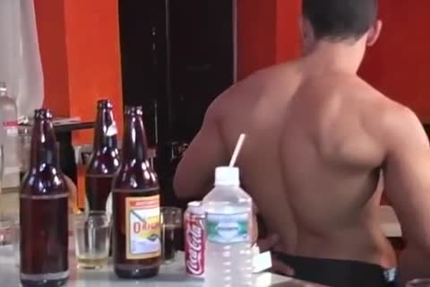 pumped up Latino Barman acquires Sucked And fucked