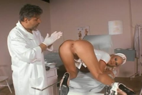Smoking lusty nurse pooper-drilled