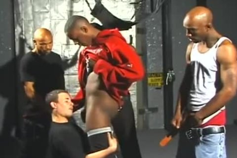 wild White men Opens Wide For Interracial Gangbanging joy