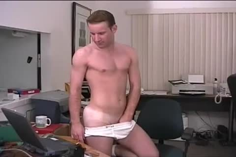 excited Muscled guy strips And Jerks In So