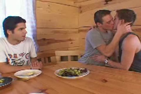 Eurotwink trio In A Cabin