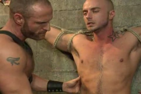 fastened Up homosexual twink receives nailed By alluring Leather Daddy