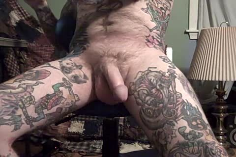 powerful Jack Off Of Heavily Tattooed lad.