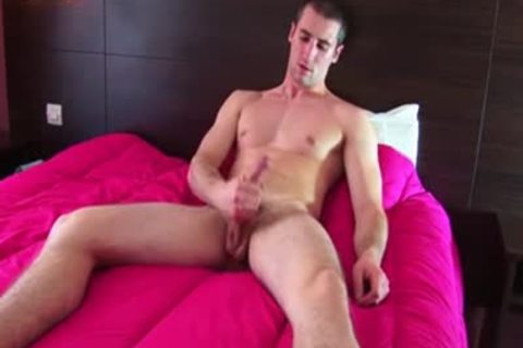 Testing His rod: Guillaume A Real Straight lad receive Wanked His biggest rod !