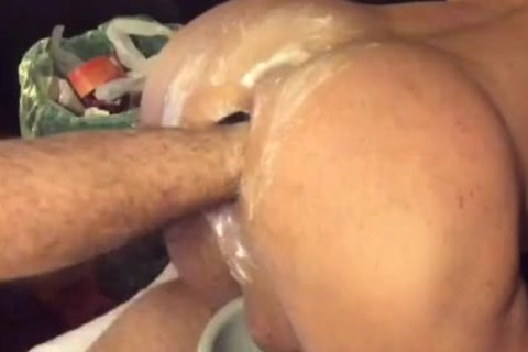 Fisting Session With A juicy 40 Y. O. Straight lad ..