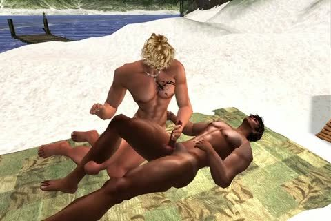 Tan Meets Thor At The Beach Of Kronborg In Second Life,