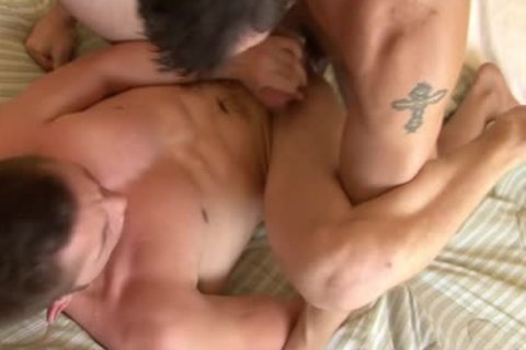 Tattooed homo acquires arse Smashed Well