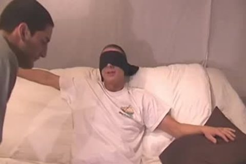 Straight lad Blindfolded And Tricked - Factory clip
