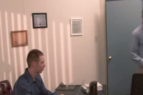 sleazy gay acquires butthole team-fucked In The Office