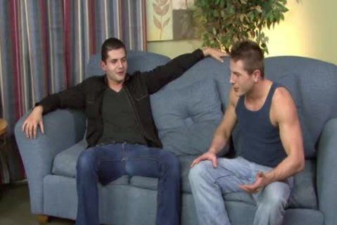 brunette hair homo Gives irrumation-job In POV Style