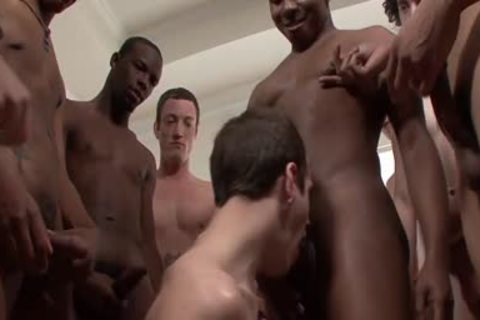 group Of darksome And White homosexual boys