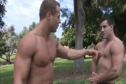 Two BB Muscle dudes. One blond Novice