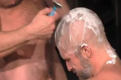 Muscle Blokes bald blowjob