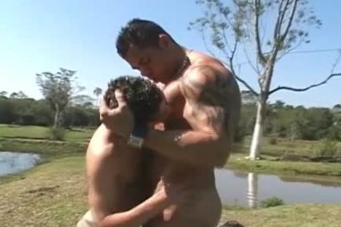 Two adorable Latino's Have Sex outside