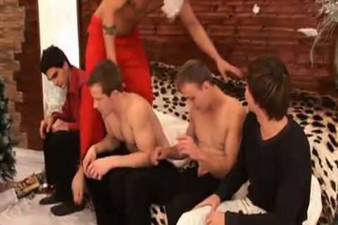 Christmas jerk off Party