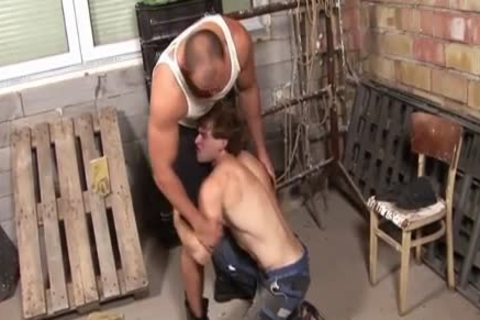 Muscly undressed Dawg And sex goo