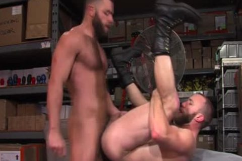 pumped up Hunk sperm overspread two