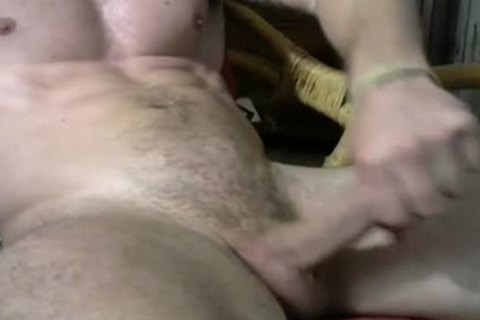 straight Muscle mate Jacks His dick On cam