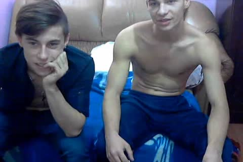two classy bi-raunchy Romanian boyz With admirable weenies & tight booties On web camera.