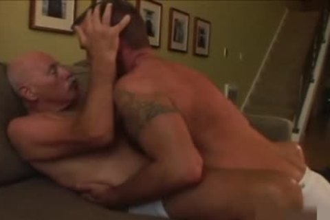daddy twink shoots his load In The jo-bag whilst nailing A Daddy