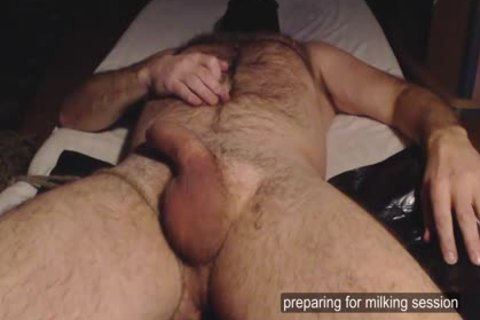 Me Milk Ballmassage hairy Hung chap - Post spooge Rub