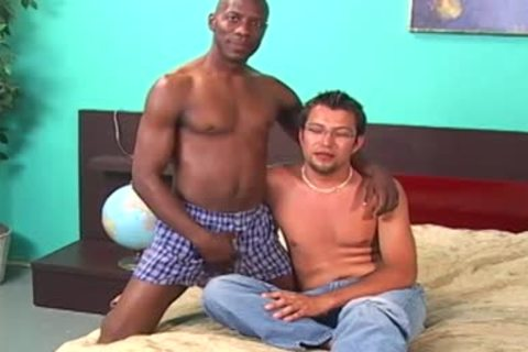 darksome lad Licking And Fingering A White dude