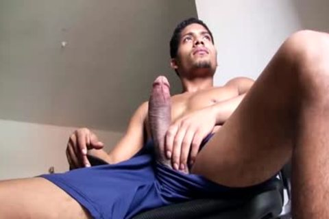 large Dicked fashionable Latino lad Is Working His monstrous Load