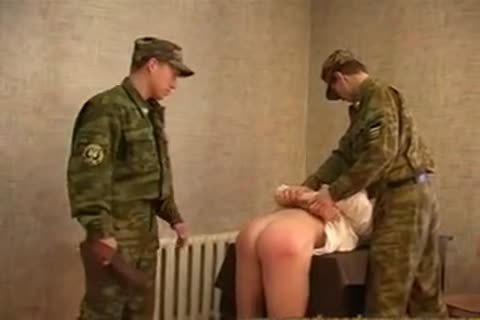 Russian Army spanking And hammering