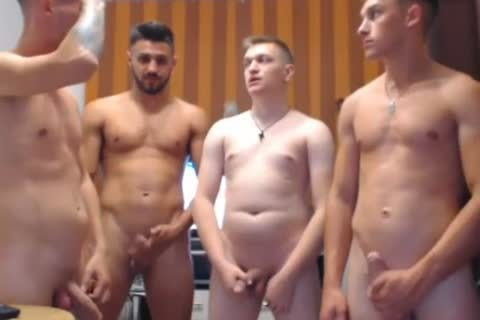 4 sexy Romanian males, Hard dongs & kinky booties