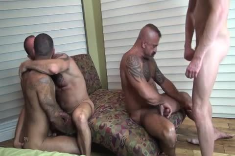 4 males In cum Hungry orgy