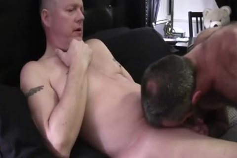 Hard Bear bends Over His nasty daddy Boyfriend To poke