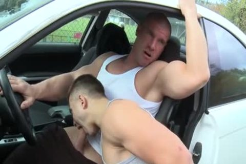 Gay car jerk