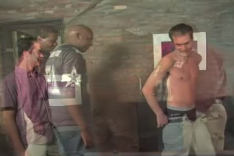 Non professional homosexual man acquires assfucked by darksome boyfrends