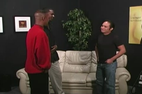 black dudes Sharing A Cheerful Latino man