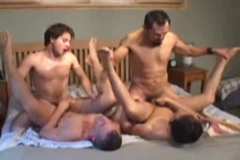 attractive gay Foursome bang