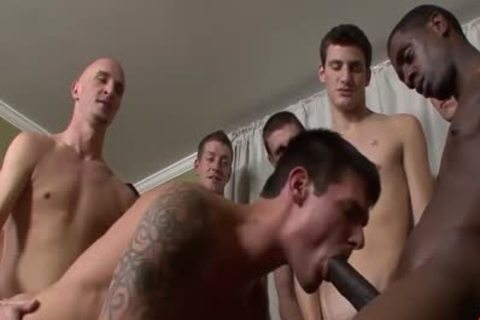 Interracial bunch-sex Ends With facual cumshots