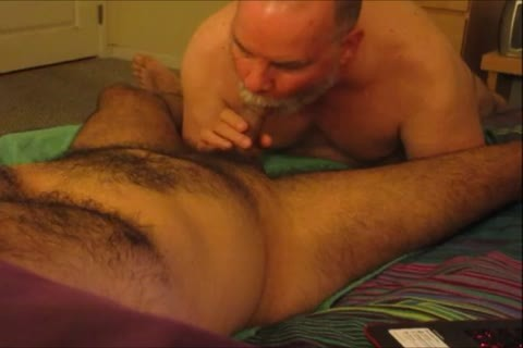 Sensuous engulfing For A hairy Senor.  In Real Time.