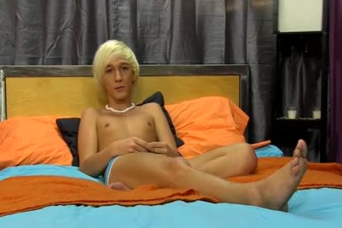 blonde teen Ryan Morrison jerking off In Front Of Camera