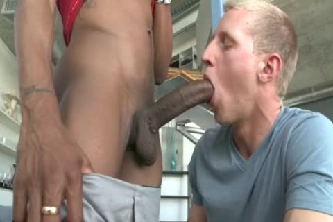 A Straight twinks gets Tricked Into Slurping Some Frightening dark Skinned Hard Shaft