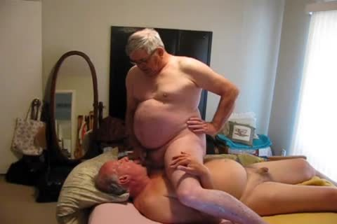 Two old males Playing In bed