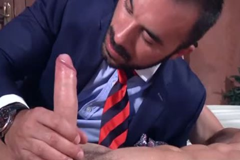 A Super Fit Muscle wang gets His plump unyielding penis Blown On My A Beard lad