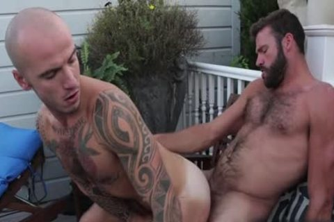 bushy homosexual anal sex With goo flow