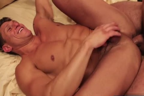 Homosexual deep unprotected anal fucking with cum