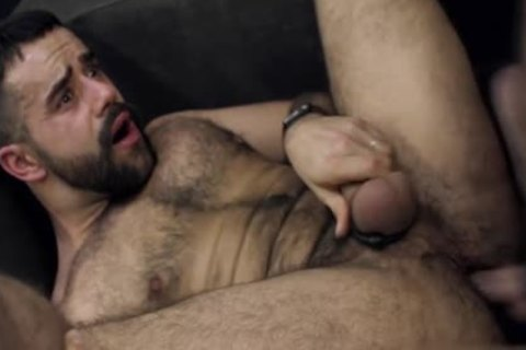 Humongous dick homosexual anal sex with cock juice flow