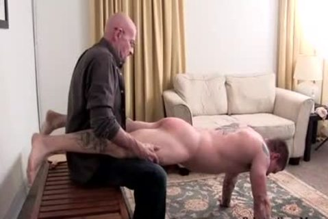 Muscle amateur spanking With sex cream flow