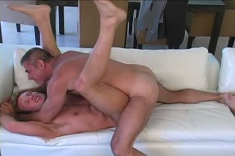 Lustful gay trio making out