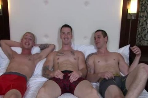 beautiful gay three-some And ejaculation