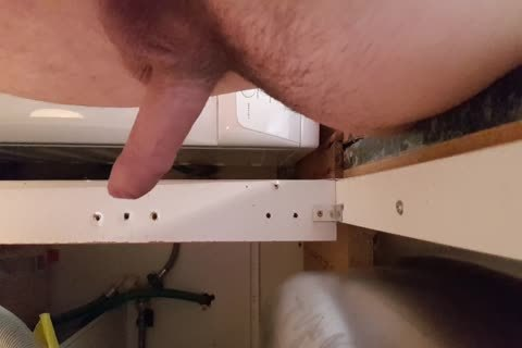 Washing The Dishes nude. Floppy Precum shlong Wobble
