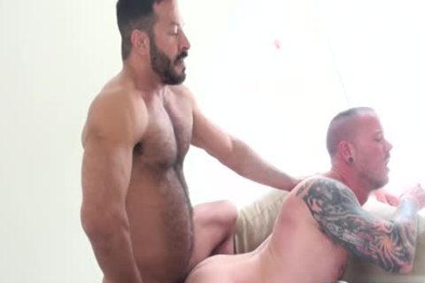 Muscle homo rough sex and spunk flow