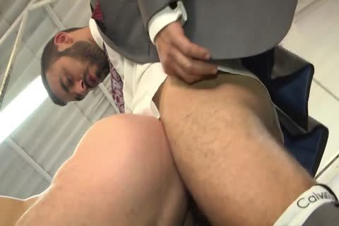 Bearded men pounding Hard